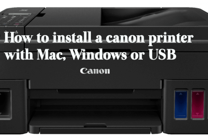 How to Add Canon Printer to Mac, Windows or USB