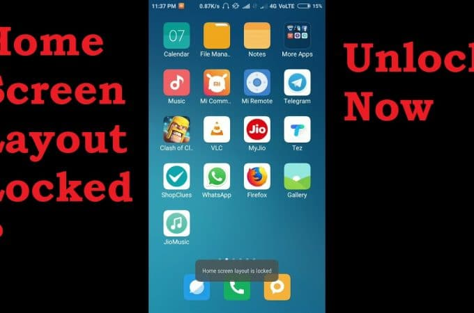 How to Lock and Unlock Home Screen Layout in Samsung and Redmi